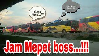 Aksi Maen kanan Bus Bus Sumatra menembus Kemacetan di Pagi hingga Malam Hari||Jam Mepet Boss...!!!!