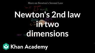 More on Newton's se¢ond law   Physics   Khan Academy