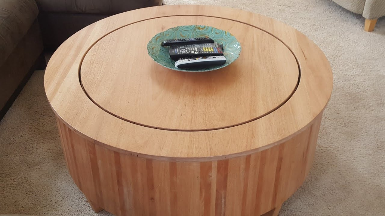 Diy Train Coffee Table Hidden N Scale Layout Youtube