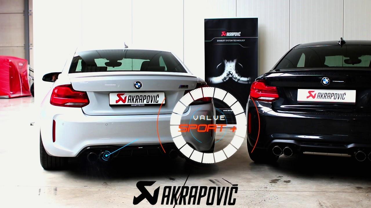 BMW M2 COMP akrapovic Slip on VS evolution Line full sound