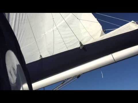 Sailing from Tallinn to Helsinki in windy weather, slo-mo
