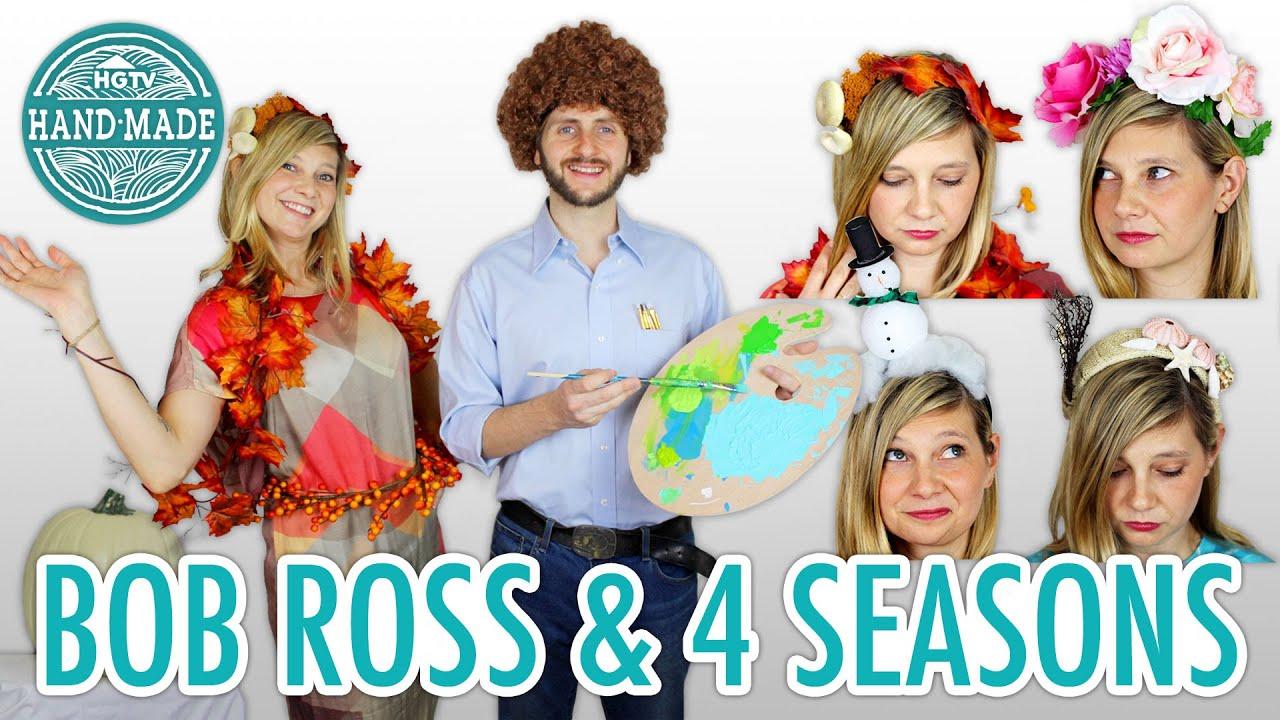 DIY Bob Ross Halloween Costume + The Four Seasons - HGTV Handmade ...