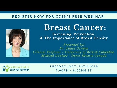 WEBINAR: Breast Cancer Screening, Prevention & The Importance of Breast Density