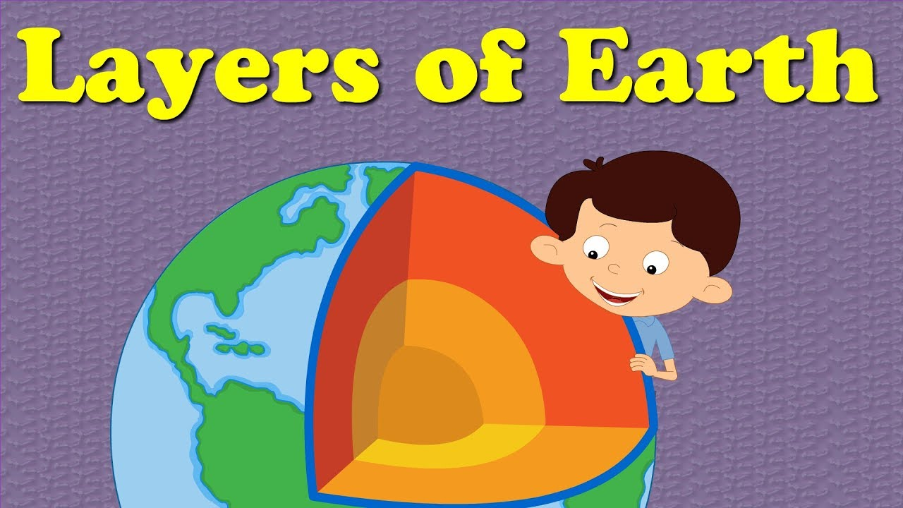layers of the earth for kids aumsum [ 1280 x 720 Pixel ]