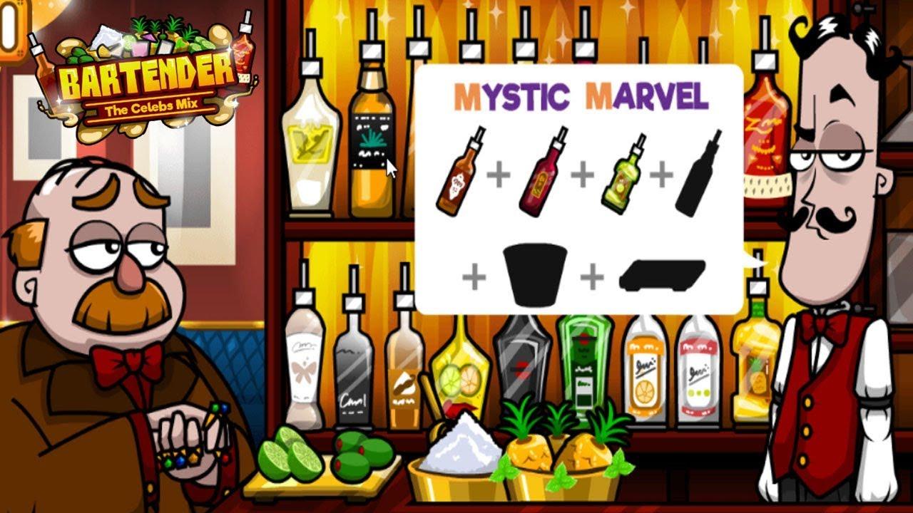 Y8 Games Bartender The Celebs Mix Mystic Marvel