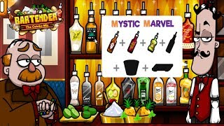 (y8 Games) Bartender: The Celebs Mix   Mystic Marvel Gameplay