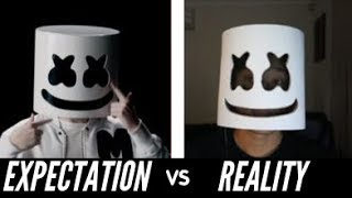 Cheap Marshmello LED Mask Helmet Costume Unboxing and Review