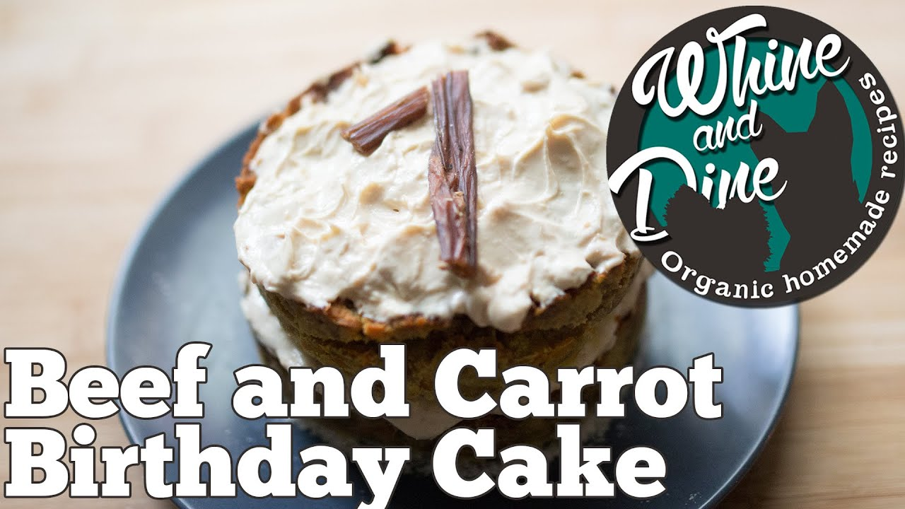 Beef And Carrot Layered Cake Homemade Dog Birthday Cake Youtube