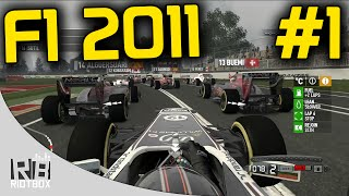 F1 2011 Career Mode Part 1 - Australia (Gameplay PC)