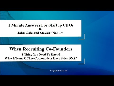 What If No CoFounder in a Hitech Startup Has Sales DNA?
