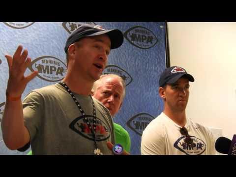 Archie & Peyton Manning speak at Manning Passing Academy
