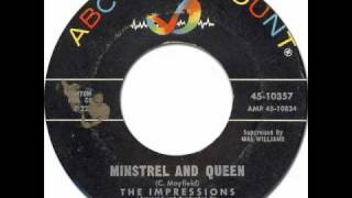 The Impressions - Minstrel and Queen [ABC-Paramount/10357] 1962 *Original 45rpm Quality Audio