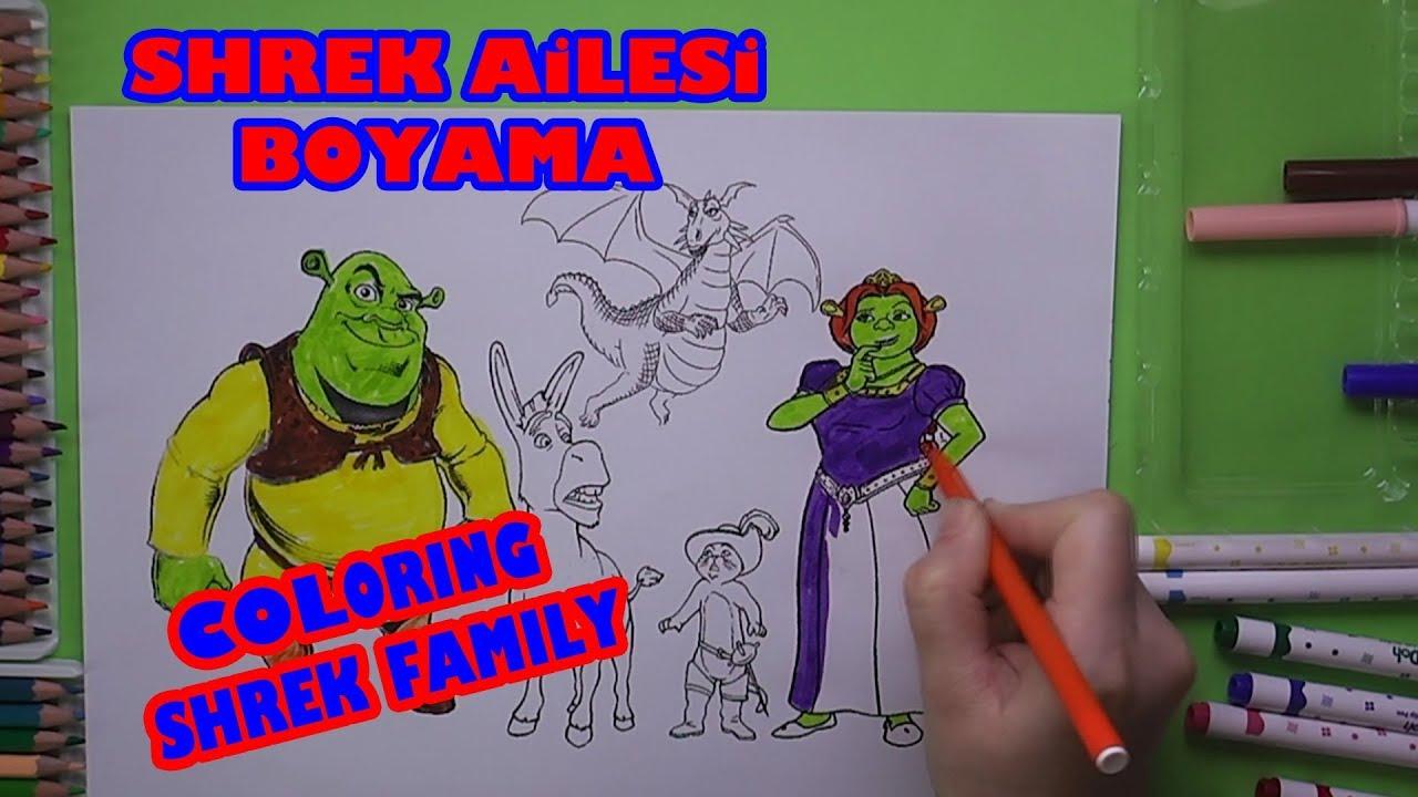Bolum 1 Shrek Ailesi Esek Ve Cizmeli Kedi Boyama Coloring