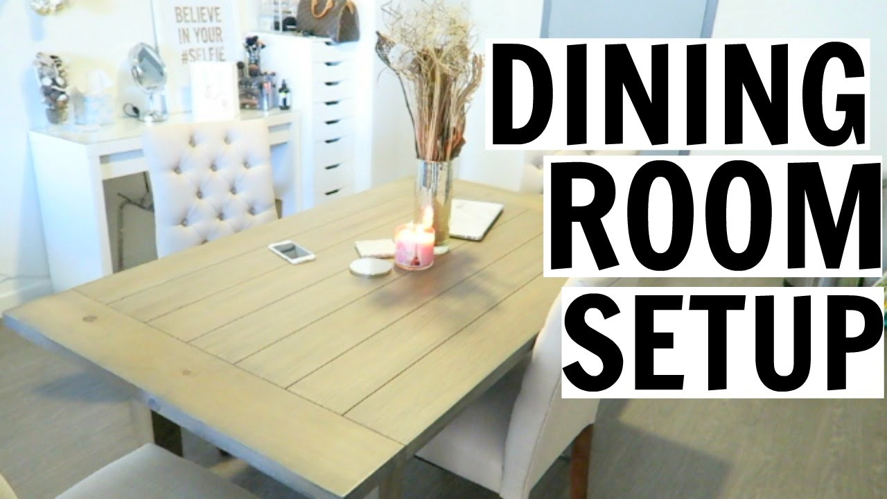 my new dining room setup - Dining Room Set Up