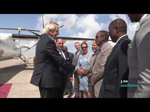 Arrival of just-appointed UN Secretary-General's Special Rep