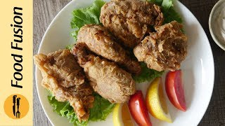 Fried Chicken (Al-Baik Style) with special garlic sauce Recipe By Food Fusion