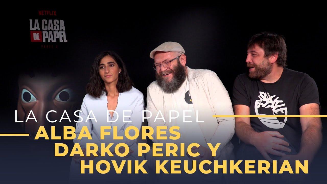 'La Casa de Papel' [tercera temporada] Entrevista a Alba Flores, Darko Peric y Hovik Keuch