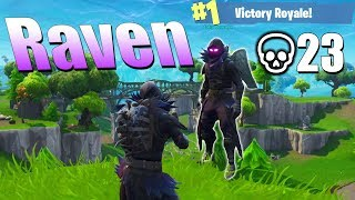 "UNBELIEVABLE Fortnite Gameplay With The New ""Raven"" Skin..."