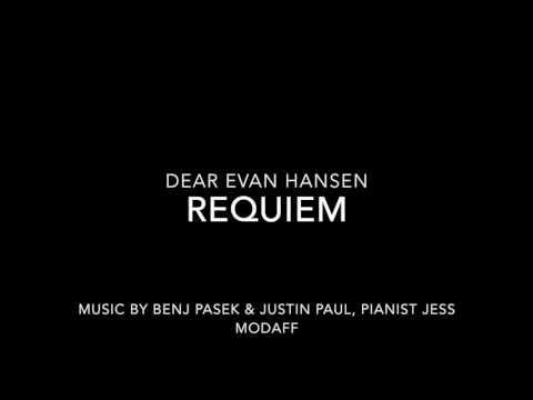 Requiem from Dear Evan Hansen - Piano Accompaniment