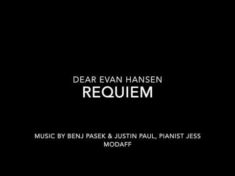 Requiem from Dear Evan Hansen - Piano Accompaniment