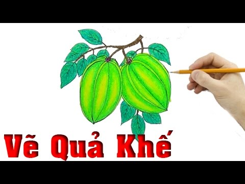 how to draw a star fruit