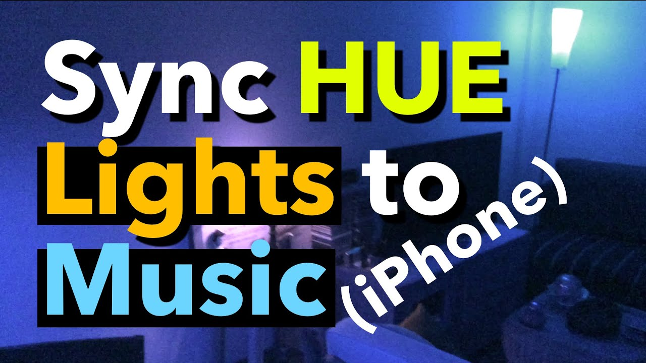 How to sync HUE lights to music (using iPhone's microphone)