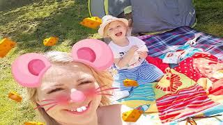 Ты спишь брат Джон.Живая кукла пупс Райан на Пикнике. Дети играют с мамой