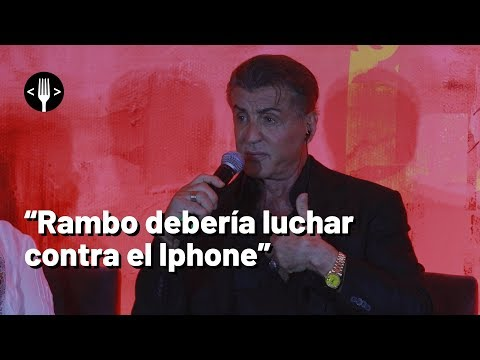 Rambo vs iPhone: Sylvester Stallone y la tecnología