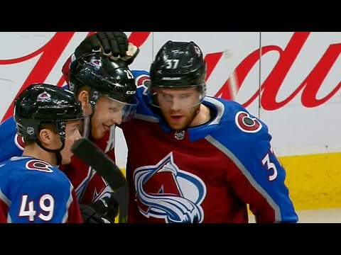 MacKinnon scores twice within a minute as Avalanche pile it on Sharks