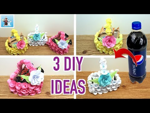3 Ideas How to Transform Plastic Bottles Into Beautiful Baskets