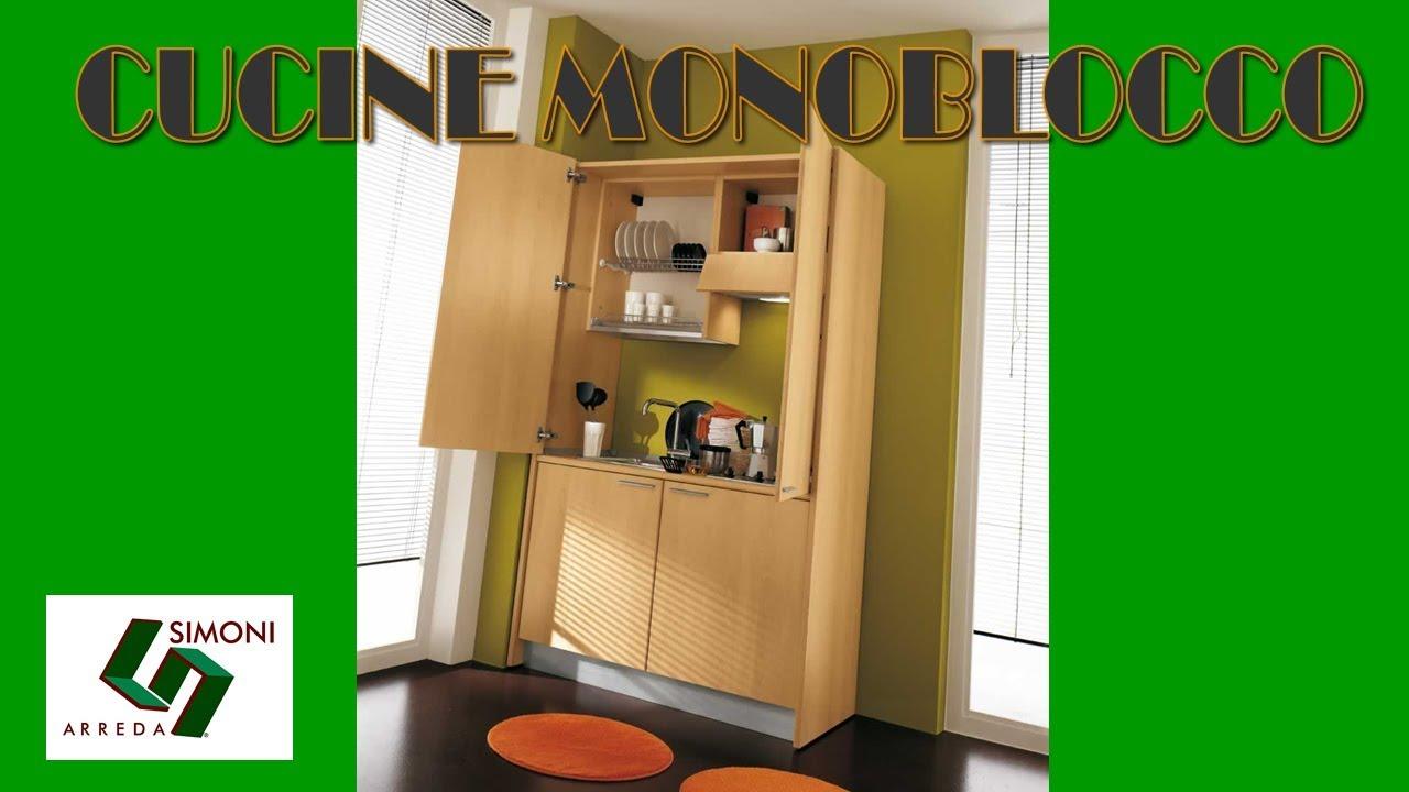 CUCINE MONOBLOCCO | MINI CUCINE | cm 125 - YouTube
