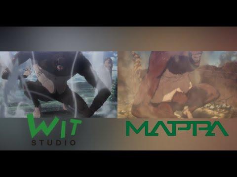 Download Mappa vs WIT Studio Titan shifters animation comparison