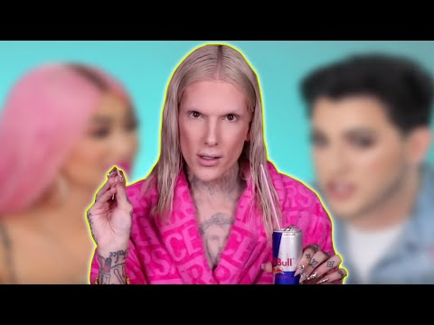 jeffree star can't be BOTHERED by nikita dragun's face palette thumbnail