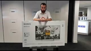 Sony KD49XF8096 Unboxing Video