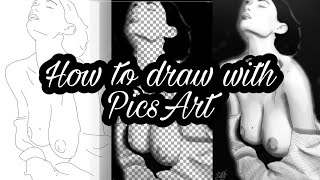 Cómo dibujar con PicsArt I | How to draw with PicsArt | Naked drawing