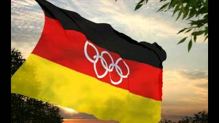 National flag and anthem of the Unified Team of Germany 1960-1968