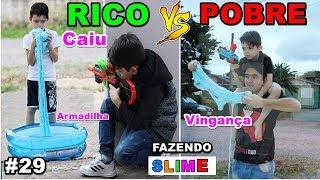 RICO VS POBRE FAZENDO AMOEBA / SLIME #29 thumbnail