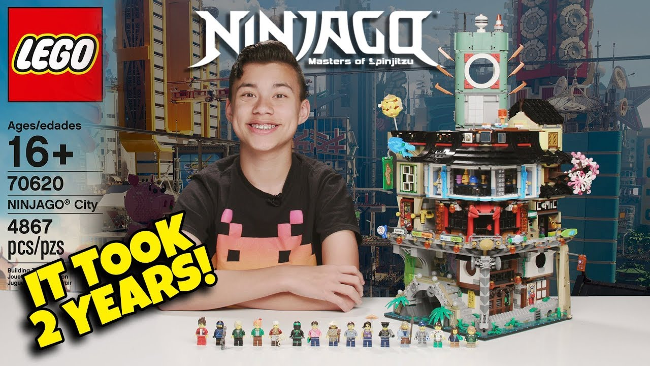 IT TOOK 2 YEARS TO MAKE THIS VIDEO!!! Lego Ninjago City - Worlds Biggest Ninjago Lego Set!