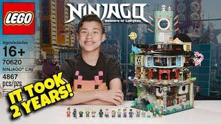 IT TOOK 2 YEARS TO MAKE THIS VIDEO!!! Lego Ninjago City - World's Biggest Ninjago Lego Set!