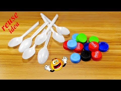 Waste material reuse idea | Best out of waste | DIY arts and crafts | recycling spoon craft
