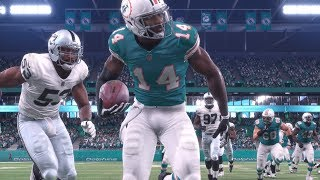 THIS GAME IS FUN AND BAD! Madden 18 Dolphins franchise vs Raiders (S1W9)