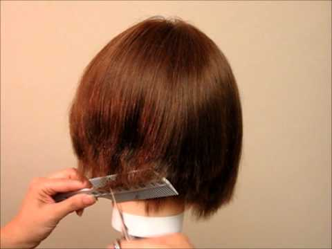 how to cut hair bob style how to cut s hair a line bob undercut bob 4199 | hqdefault