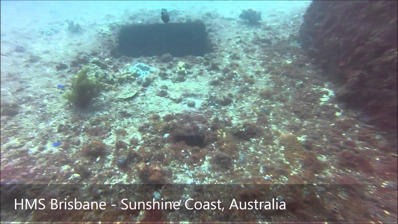 SCUBA DIVING: HMS Brisbane. Mooloolaba, Queensland
