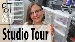 Polymer Clay Tutor Studio Tour - Organized Zones