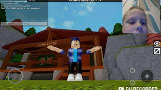 Playing flee the facility again (Roblox)
