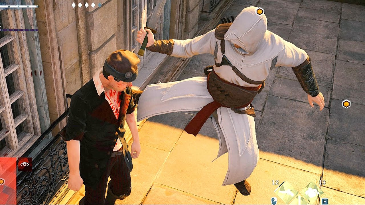 Assassin S Creed Unity Stealth Combat With Altair S Outfit Youtube
