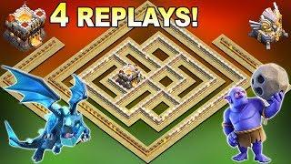 UNDEFEATED NEW TH11 War Base 2019 With 4 Replays Anti E-Dragon Anti Bowler Anti Everything Defense