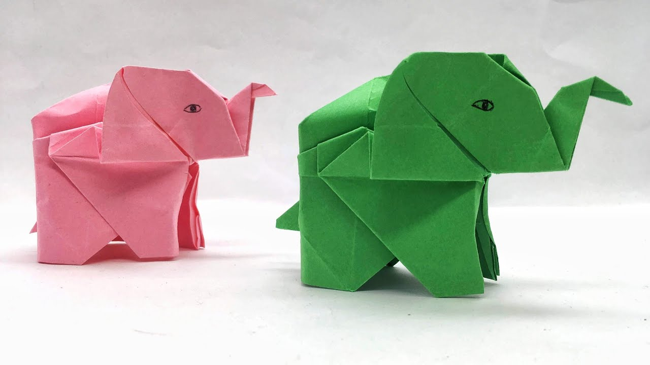 Origami - How To Make An Origami Elephant - YouTube | 720x1280