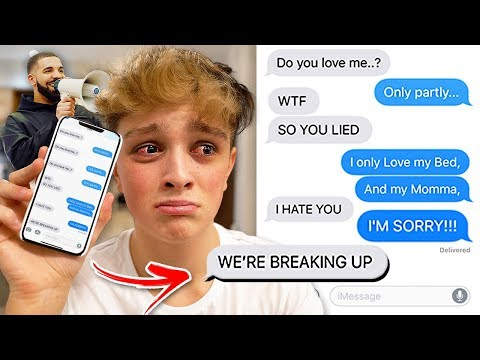 SONG LYRIC PRANK TURNS INTO REAL BREAKUP!!! (Drake - God's Plan) Song Lyric Text Prank GONE WRONG!
