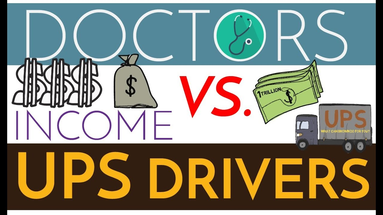 Are Doctors Rich? $$$ Physicians vs  UPS Drivers